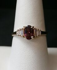 Stunning 10k Yellow Gold Red Spinel and White Sapphire Ring Make Offer!  #1593