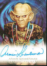 THE COMPLETE STAR TREK DEEP SPACE AUTOGRAPH CARD A4 ARMIN SHIMERMAN AS QUARK