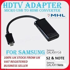 For Samsung Galaxy S2 & Note N7000 HDTV Adapter MHL  TO HDMI Cable