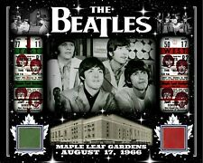 THE BEATLES 8X10 COLLAGE PHOTO AUG 17, 1966 W/ MAPLE LEAF GARDENS RED-GREEN SEAT