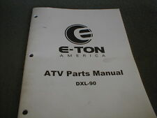 E-TON America Genuine OEM Parts Manual DLX-90 Youth ATV