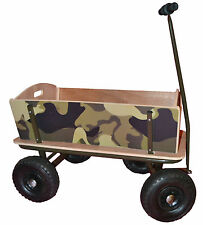 Giant Cart WAGON camoflage wooden toys trains ride-on educational gardening NEW