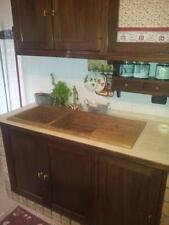 lavandino lavello  cucina in pietra  travertino Noce  2 vasche con gocciolatoio