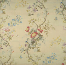 SCALAMANDRE EXQUISITE MEISSEN SILK LAMPAS DAMASK FABRIC 10 YARDS VANILLE