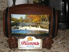 Vintage Hamm's Beer Barrel Rotating Flip Motion Bar Sign A+