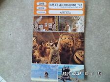 CARTE FICHE CINEMA 2009 MAX ET LES MAXIMONSTRES