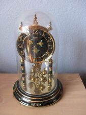 Vintage Kundo K&O 400 Day West Germany Anniversary Mantal Table Clock with Dome