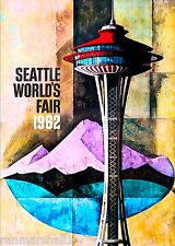 1962 Seattle Washington World's Fair United States Travel Advertisement Poster