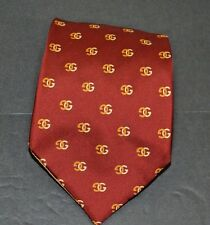 Classic Gucci Red Initialed G and Reverse G Silk Necktie