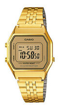 Casio LA680WGA-9D Women's Vintage Gold Tone Chronograph Alarm Digital Watch