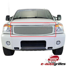 Replacement Stainless Steel Wire Mesh Grille W/Shell For 04-07 Nissan Titan