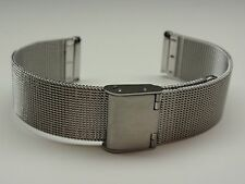 18MM STAINLESS STEEL MESH WATCH BAND / WATCH STRAP / BRACELET + 2 PINS