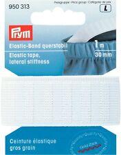 € 1,13/m PRYM Fascia elastica stabile 30mm/1m bianco forte Cinturino di gomma