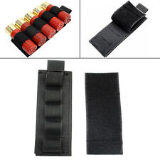 Tactical Airsoft 5 Round Shotgun Shell 12 GA Ammo Carrier Holder Hunting Nylon Q