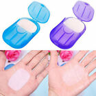 NEW 20Pcs Travel Portable Anti-Bacterial Clean Paper Soap Popularity Small Case