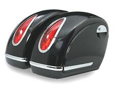 Alforjas rigidas para moto custom de 45 litros color negro brillo -ENVIO GRATIS-