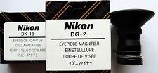 Nikon DG-2+DK-18 Eyepiece 2x Magnifier for D4,D3,D2 n D1,D800,D700,D600,D300