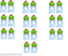(20-Pack) Snack Pack Refillable Baby Food Pouch - Reusable Squeeze Pouch