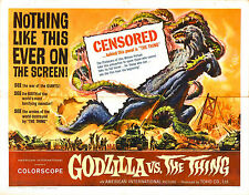 Framed Retro Movie Poster - Godzilla vs The Thing 1964 (Replica Print Film Art)