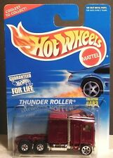 HOT-WHEELS 1996 THUNDER ROLLER SEMI TRACTOR - METAL (RED)