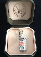 NIB Juicy Couture New Genuine Silver Couture Lite Beer Pale Ale Charm In Box