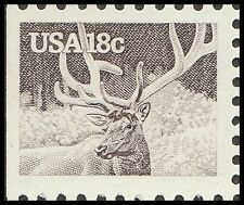 US 1886 American Wildlife Elk Wapiti 18c single MNH 1981