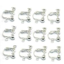 12x Ear Wire Screw Back Clip on NON PIERCED Earrings Hoop Finding DIY Silver