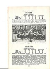 Team Pic from 1948-49 Football Annual - DUNDEE + FALKIRK