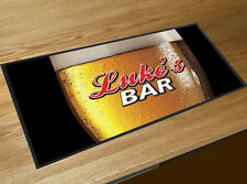 Personalised with any name beer glass Coors beer style bar runner beer mat