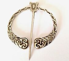 VINTAGE SOLID CELTIC  PENANNULAR KILT CLOAK PIN BROOCH PLAID 1955 IONA ?