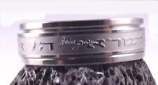Shema Israele rotante in acciaio inox argento anello preghiera ebraica ebraico Judaica