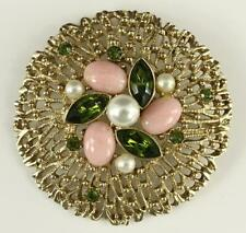 Vintage Costume Jewelry SARAH COVENTRY Fashion Splendor Rhinestone Brooch Pin