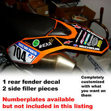 rear fender decals for use with ktm 690smc 690 smc motard