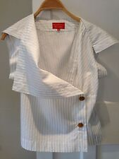New Vivienne Westwood Red Label Stripe Blouse, IT 42/UK 10, RRP £235