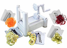 New Veggie 5 Blade Spiralizer Best Vegetable Spiral Slicer Chopper Noodle Maker