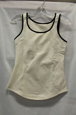 Lululemon Womens Tank Top Define Cream Black Size 4 Excellent Used Condition