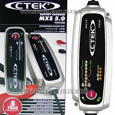 CTEK MXS 5.0 12v 5A Car Bike Caravan Boat 8 Step Automatic Smart Battery Charger