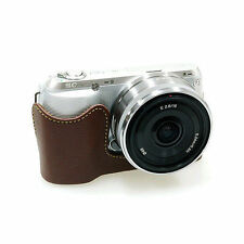 New HORUSBENNU HC-NC3 Synthetic Leather Camera Half /Bottom case for SONY NEX-C3