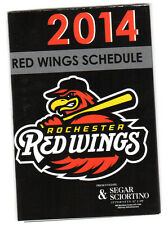 Lot of 2 Rochester Red Wings 2014 Pocket Season Schedules
