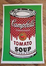 Soupe aux tomates vert. Ltd/100 signe/ap 2012 par nyc banksy. mr brainwash. d * face