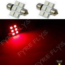 2 Red 31mm 6SMD festoon dome map interior LED light lamp DE3175 3022 3021 2xC3