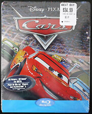 BRAND NEW DISNEY PIXAR CARS BLU-RAY STEELBOOK REGION FREE OOP