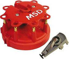 MSD Cap and Rotor Red Male HEI Brass Terminals Clamp-Down Ford 302 351w V8 Kit