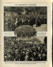 Caserne de la Pépinière Place Saint Auguste Gare de l'Est Volontaires  1914 WWI