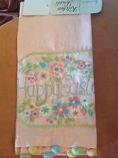 ARTISTIC ACCENTS KITCHEN TEA TOWEL ( 1) HAPPY EASTER PINK  NIP