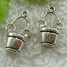 Free Ship 60 pcs tibet silver bucket charms 25x11mm #1674
