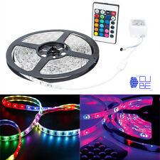 Striscia led multicolore 3528 RGB 5 mt bobina adesiva alimentatore e telecomando
