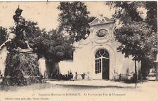 BORDEAUX 36 exposition maritime le pavillon des vins de champagne timbrée 1907