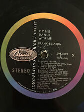 "FRANK SINATRA Capitol COME DANCE WITH ME SW 1069 RECORD ONLY Jazz 12"" 33 RPM LP"
