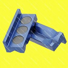Magnetic Aluminium Vise Jaw Insert Pad For AN Fittings Blue W/ 1Yr Warranty